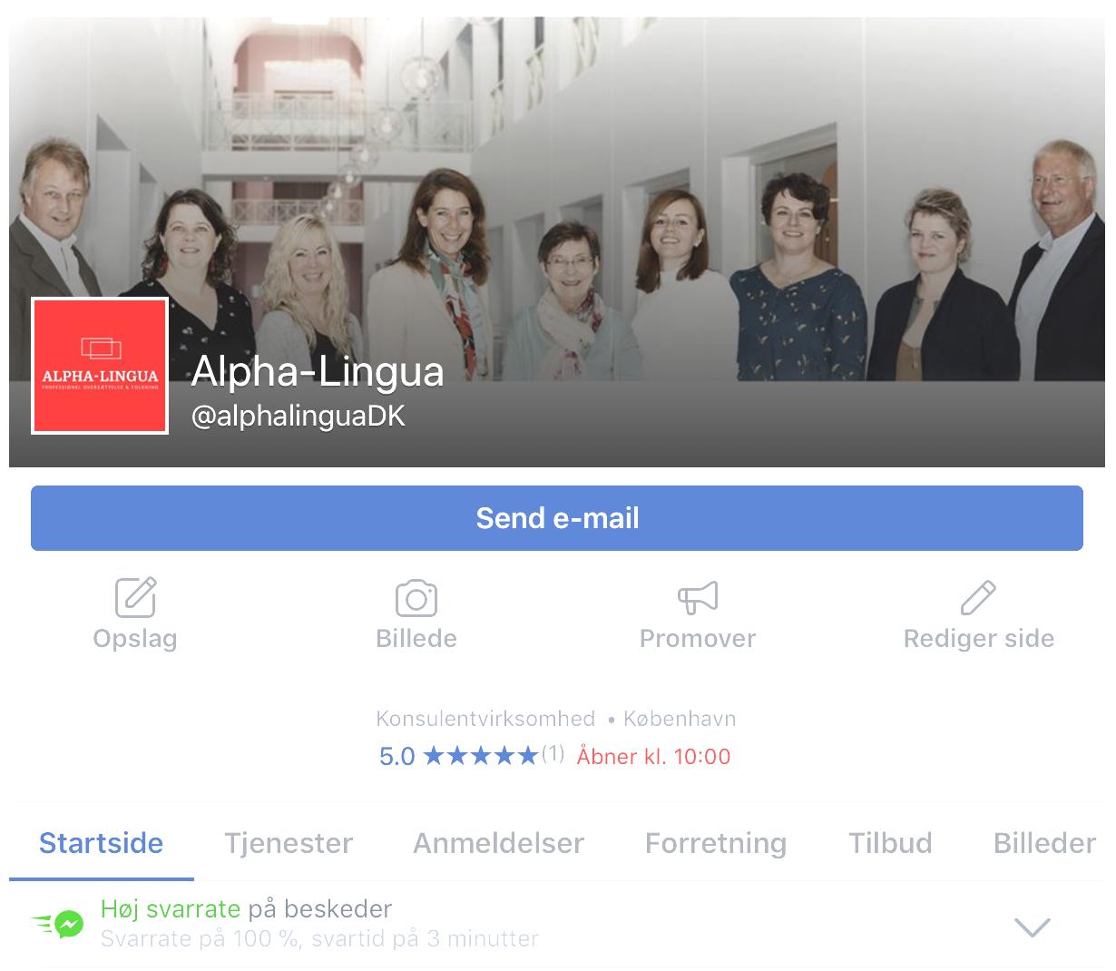 Alpha-Lingua på Facebook